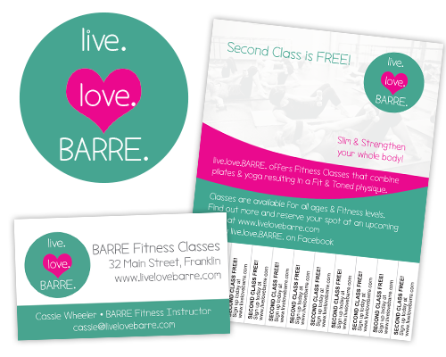 live.love.barre. graphic design